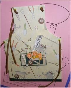 PERSONAL IMPRESSIONS Card Making Template APRON AS17