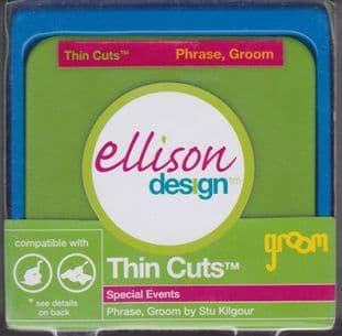 PHRASE GROOM ELLISON THIN CUTS DIE