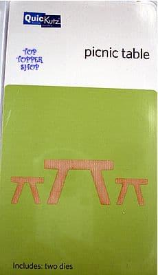 PICNIC TABLE QUICKUTZ DOUBLEKUTZ DIE KS-0740