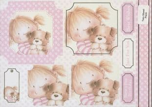 PINK RANGE BEST FRIENDS KANBAN CARD TOPPERS 9937