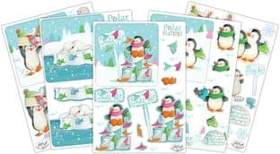 Polar Playtime  10 Sheets Christmas 3D Decoupage Set Craft Consortium