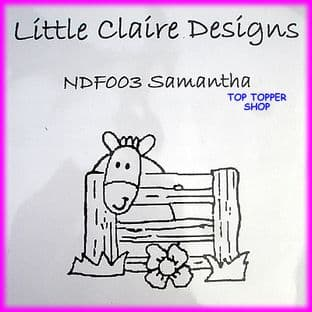 PONY STAMP - SAMANTHA by LITTLE CLAIRE DESIGNS