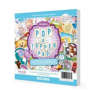 Pop-a-Topper Pad - Cute & Cuddly  Hunkydory Foiled Die Cut Card Toppers 45 Pages