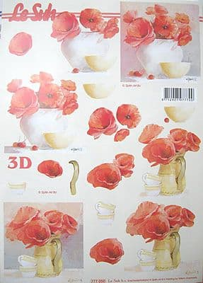 POPPIES DECOUPAGE SHEET LE SUH 777050