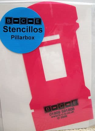POSTBOX STENCILLO Card Making Template FROM B-C-E