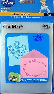 PRINCESSES - CUTTLEBUG DISNEY DUO EMBOSSING FOLDERS