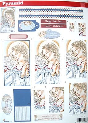 PYRAMID DECOUPAGE CHRISTMAS ANGEL SL16