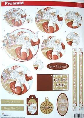 PYRAMID DECOUPAGE CHRISTMAS SANTA SL15