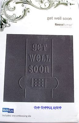 QUICKUTZ GOOSEBUMPZ DIE * GET WELL * for REVOLUTION