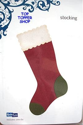 QUICKUTZ SHAPE DIE * CHRISTMAS STOCKING * for REVOLUTION