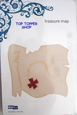 QUICKUTZ SHAPE DIE * PIRATE TREASURE MAP REV-0079 * for REVOLUTION