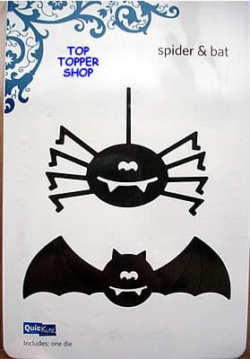 QUICKUTZ SHAPE DIE * SPIDER & BAT * for REVOLUTION