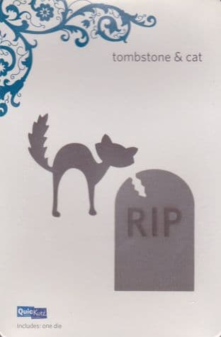 QUICKUTZ SHAPE DIE * TOMBSTONE & CAT * for REVOLUTION