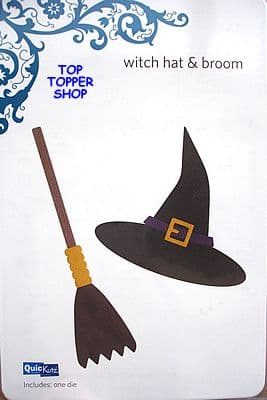 QUICKUTZ SHAPE DIE * WITCH HAT & BROOM * for REVOLUTION