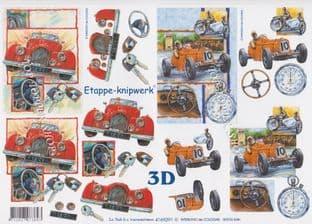 Racing Car Le Suh Decoupage Sheet 4169291