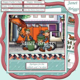 REALLY RUBBISH CARD Humorous 7.5 Decoupage Card Kit digital download