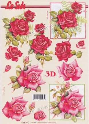 Red Roses Decoupage Sheet Le Suh  4169281