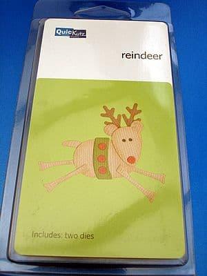 REINDEEER (PRANCING) QUICKUTZ DOUBLEKUTZ DIE KS-0476