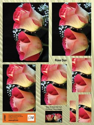 ROSE DUO DIE CUT PYRAMID DECOUPAGE FROM G18