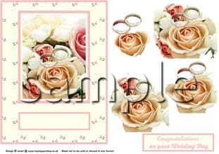 ROSES & RINGS DECOUPAGE  sheet