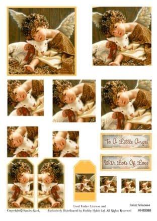 SANDRA KUCK LITTLE ANGELS STACKER DECOUPAGE SHEET HH0088