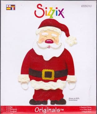 SANTA CLAUS SIZZIX ORIGINALS LARGE RED DIE 655010