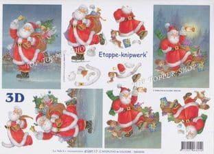 Santa On His Way Le Suh Decoupage Sheet 4169117