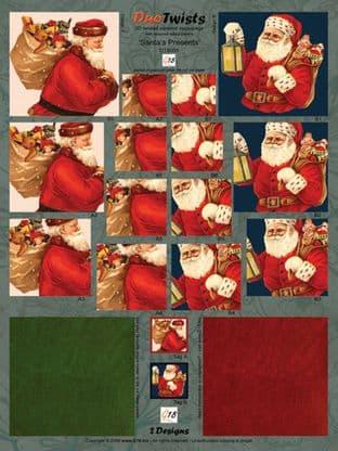SANTA'S PRESENTS  CHRISTMAS DIE CUT DUO TWISTS FROM G18