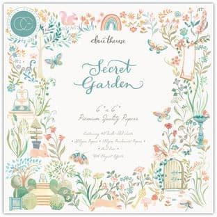 """Secret Garden 6""""x6"""" Premium Paper Pad Craft Consortium"""