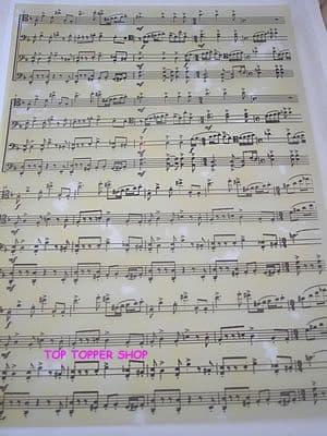 SHEET MUSIC A4 VELLUM PAPER