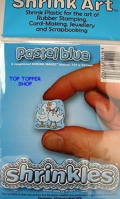 SHRINKLES SHRINK ART PLASTIC * PASTEL BLUE *