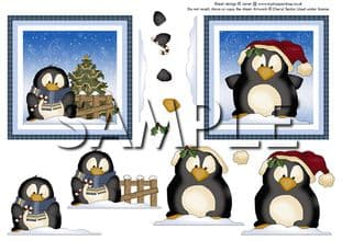 SILLY PENGUINS DECOUPAGE  digital download