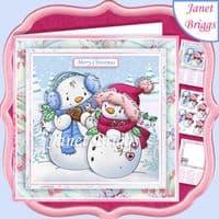 Snowmen Card Kit Downloads