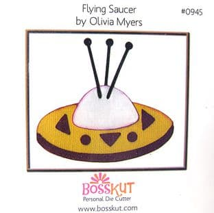 SPACE BOSSKUT DIE - FLYING SAUCER 0945