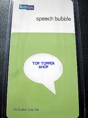 SPEECH BUBBLE QUICKUTZ SINGLEKUTZ DIE RS-0543