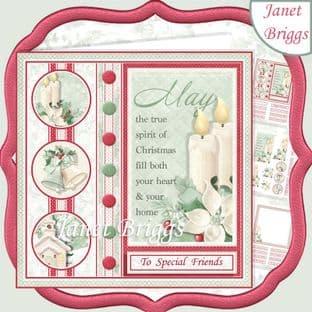 SPIRIT OF CHRISTMAS  7.5 Decoupage Card Kit digital download