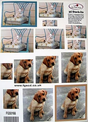 STACK-ITS 166 CAT & DOG PYRAMID DECOUPAGE