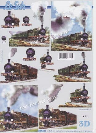 Steam Trains Le Suh Decoupage Sheet  Requires Cutting 4169.123