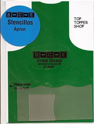 STENCILLO APRON Card Making Template