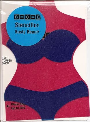 STENCILLO BUSTY BEAUTY Card Making Template