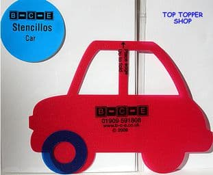 STENCILLO CAR B-C-E Card Making Template