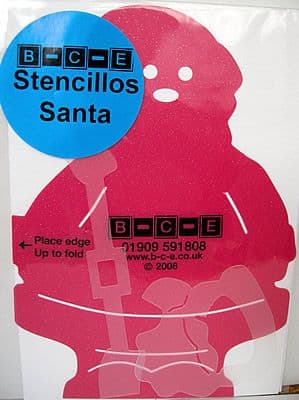 STENCILLO CHRISTMAS SANTA B-C-E Card Making Template