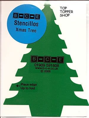 STENCILLO CHRISTMAS TREE Card Making Template