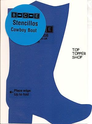 STENCILLO COWBOY BOOT Card Making Template