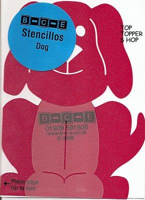 STENCILLO DOG BCE Card Making Template