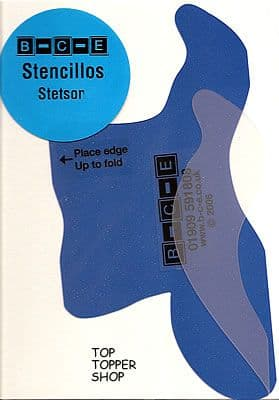 STENCILLO STETSON Card Making Template