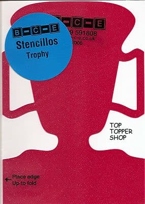 STENCILLO TROPHY Card Making Template