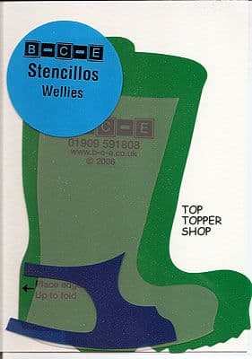 STENCILLO WELLIES Card Making Template
