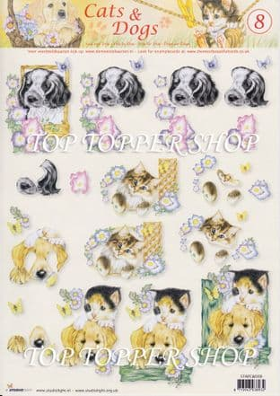 STUDIOLIGHT CATS & DOGS DECOUPAGE 8