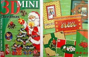 STUDIOLIGHT MINI 3D DECOUPAGE BOOK 17 - CHRISTMAS